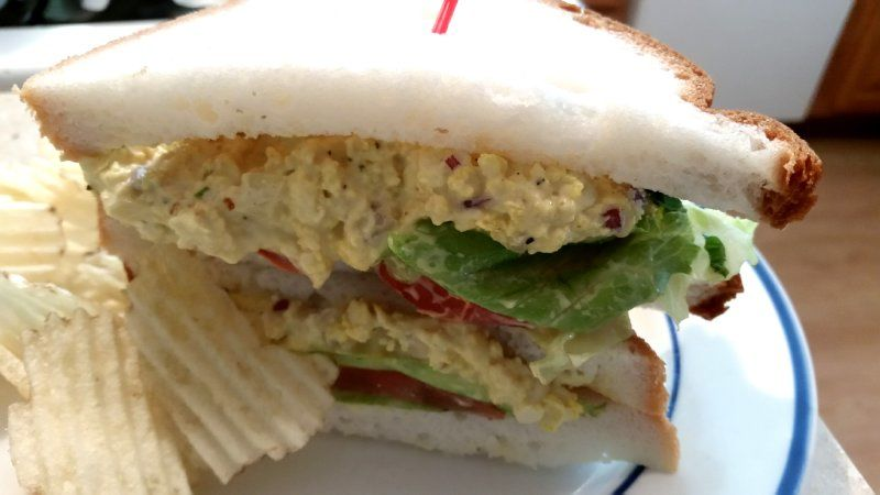 Our vegan 'egg' scramble has versatile uses. Use chilled to make egg salad in seconds! Our vegan 'egg' scramble is pre-cooked. Just add minced onion, vegan mayo, and your seasonings. Serve on gluten-free bread or roll for a fab GF option.